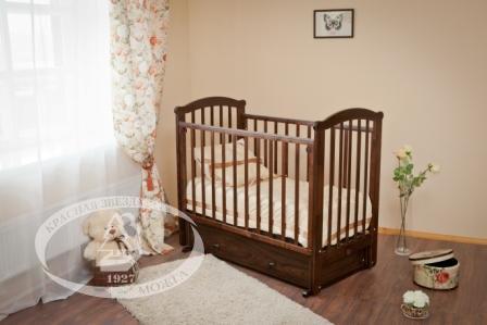 Кровать детская Можга (Красная Звезда) ''Ирина'', ЗН с/с, шоколадС 625
