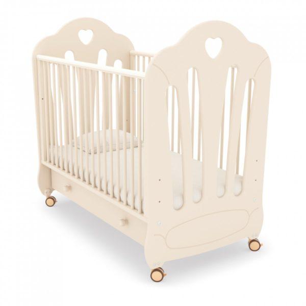 Детская кроватка на колесах Гандылян « Стефани » (МДФ) без страз