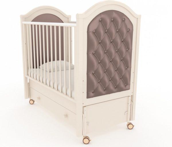 Кроватка с продольным маятником на колесах Гандылян « Софи люкс »