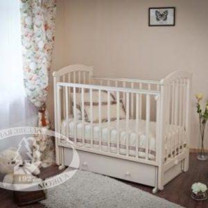 Кровать детская Можга (Красная Звезда) ''Ирина'',  ЗН с/с, белый, слоновая костьС 625 Э
