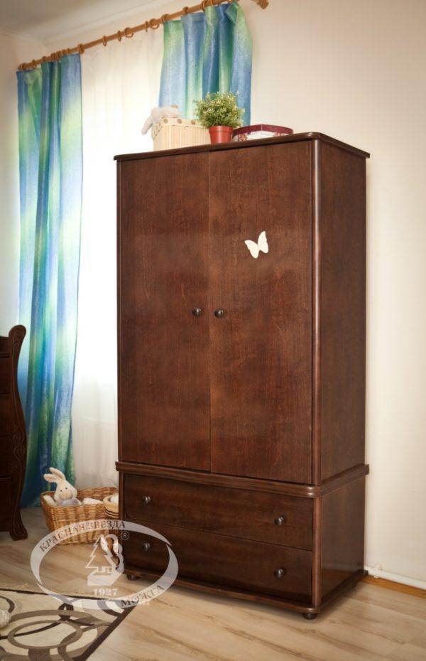 Шкаф детский Можга (Красная Звезда) шоколадС 534