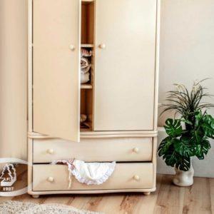 Шкаф детский Можга (Красная Звезда) белый, слоновая кость, ваниль, серыйС 534 Э