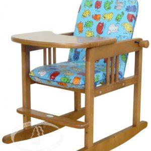 Гарнитур детской мебели тип 2 (с чехлом) Можга (Красная Звезда) с качалкой красно/коричневыйС 478