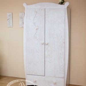 Шкаф детский Можга (Красная Звезда) античный белыйС 538 Э А