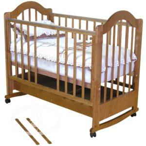 """Кровать детская Можга (Красная Звезда) """"Злата"""", ЗН,с/с, красно-коричневаяС353"""