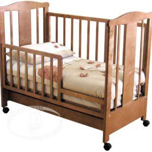 """Кровать детская Можга (Красная Звезда) """"Силена"""" с накладкой,ЗН, красно-коричневаяС 842"""