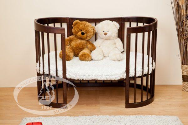 """Кровать детская Можга (Красная Звезда) """"Паулина 2"""", белый, ваниль, слоновая кость, серыйС 422 Э"""