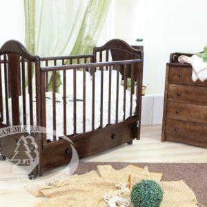 """Кровать детская Можга (Красная Звезда) """"Карина"""",ЗН,с/с, шоколад, красно-коричневаяС 555"""