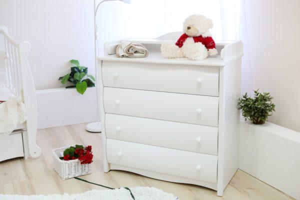 Комод Можга (Красная Звезда) белый, слоновая кость, ваниль, серый с настиломС 565 Э